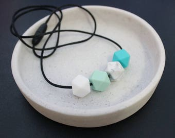 Minty Green Silicone Bead Necklace