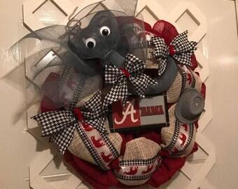 Alabama Roll Tide - Crimson Tide - Big Al - SEC - College Football - Collegiate Decor - Mancave - Roll Tide - UA - Alabama Crimson Tide - AL