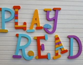 Playroom Decor - Kids Play Area - The Word Read - The Word Learn - The Word Art - The Word Play - The Word Fun