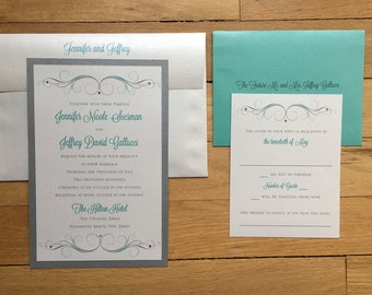 Jennifer and Jeffrey III// Destination Wedding Invitation