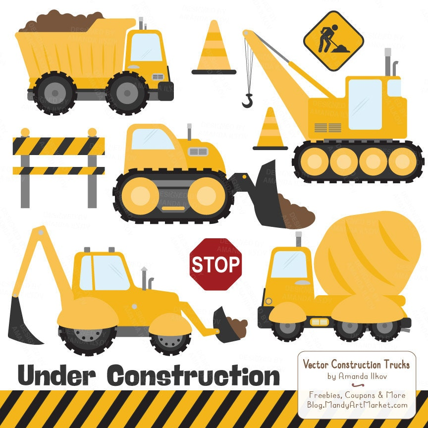 Premium Yellow Construction Clipart Truck