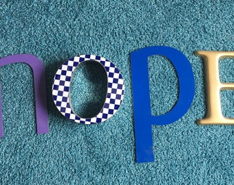Vintage Letters HOPE Wall Hanging