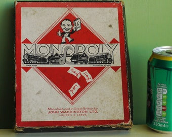 Vintage British Monopoly Game 1940s