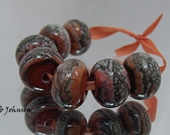 The Coral Path, Artisan Lampwork Glass Beads, SRA, UK