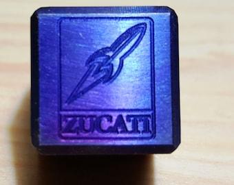 Zucati Rocket Logo Die - Exotic Metals - Engraved - Pips