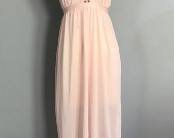 Vintage Pink Lace Trimmed Nightgown