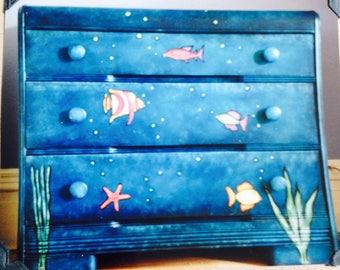 Amazing hand-painted fishy wishy dresser!!!