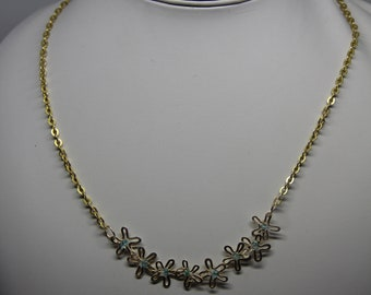Apatite and Gold Coloured Necklace