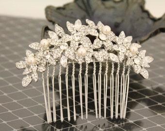 Bridal hair accessories vintage Wedding hair comb pearl Bridal comb pearl Wedding hair accessory hairpiece Bridal Hair Jewelry Wedding Combs