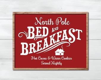 North Pole SVG, Stencil, Fixer Upper Christmas SVG, Joanna Gaines Christmas Vector, Magnolia Market Cut File, Stencil, Print, Cuttable, Sign