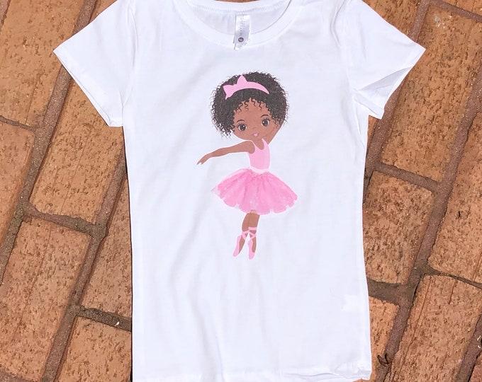 Brown Ballerina w/3D Tutu (Onesies & Tees)
