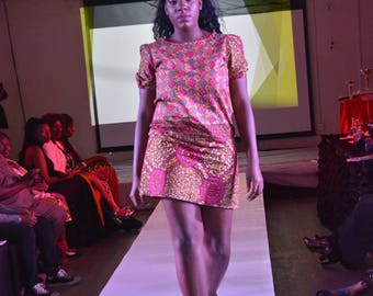 Mixte robe/Wax robe robe / africain vêtements/cire impression d\u0027été