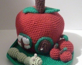 Instant Download - PDF Crochet Pattern - Apple House