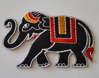 "Elephant3x2"" Iron On Patch Sewing Emblem."