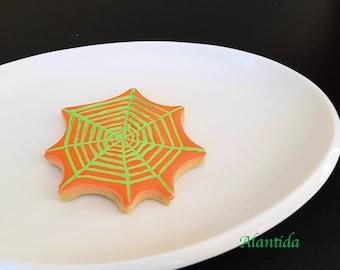 Fake Halloween Cookie Spider Web Cookies Halloween Candy Faux Cookies Spider Web Cookie