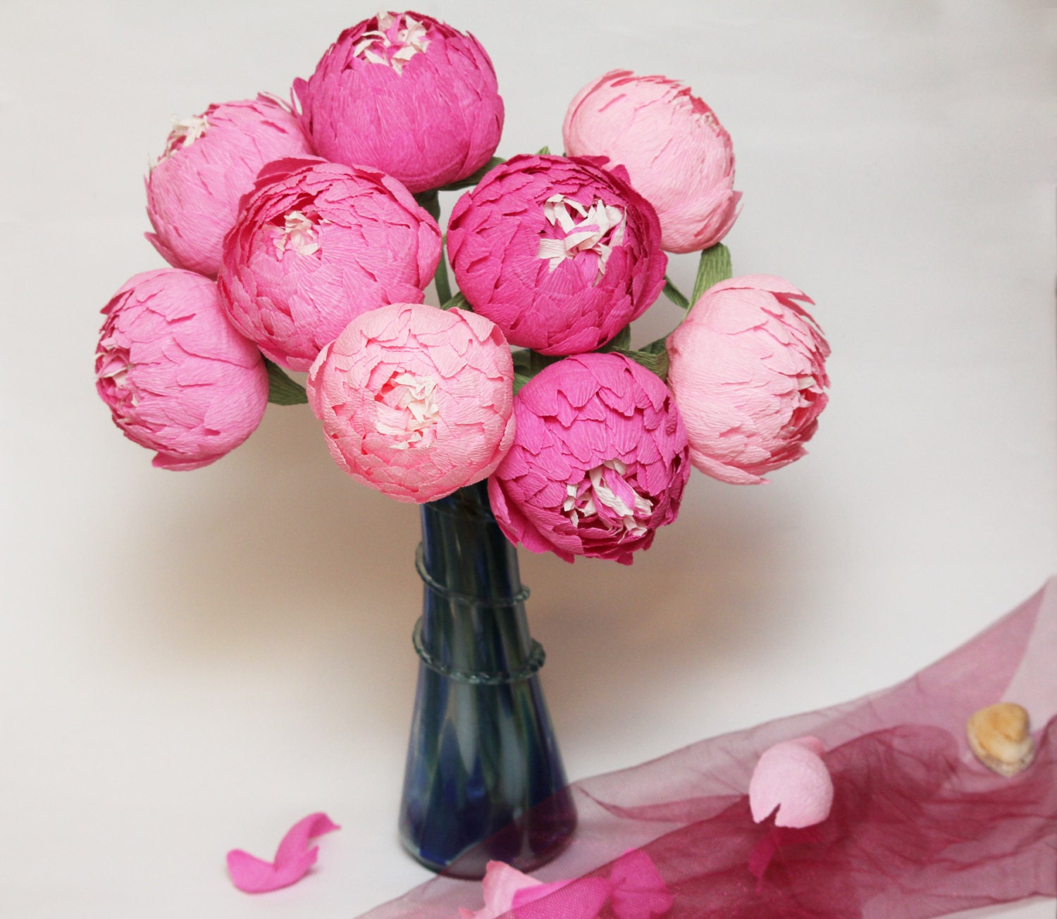 Paper flowers peonies wedding flowers paper centerpieces zoom mightylinksfo