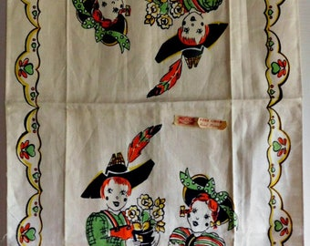 Vintage Charming Broderie Couple Kitchen Towel FREE SHIPPING