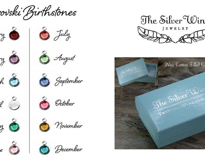 Add on menu - Add a Swarovski Birthstone, Pearl, small charm  or additional SS chain, charms , spare parts