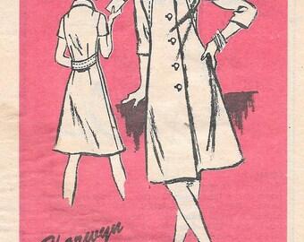 "Vintage 1970s Prominent Designer Pattern M202- Harwyn Misses' Dress size 12 1/2 Bust 35"" uncut"
