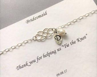 Sterling Silver Infinity Bracelet, Infinity Bracelet, Bridesmaid Bracelet, Infinity Knot, Bridesmaid Gift, Bridesmaid Jewellery