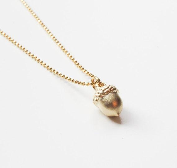 Gold Acorn Necklace