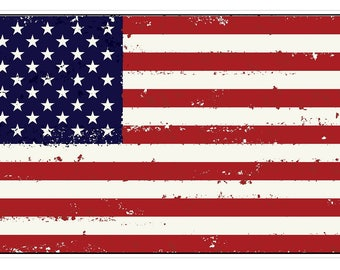 American Flag (J55) USA Vinyl Decal Sticker Distressed Car Laptop Window