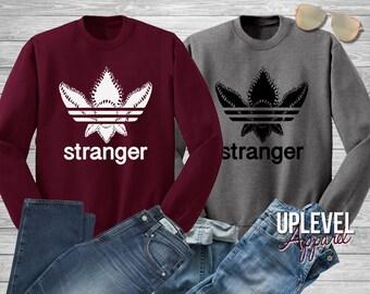 Demogorgon Adidas Sweatshirt, Adidas Demogorgon Sweatshirt, Stranger Sweatshirt Things, Demogorgon Sweatshirt,Hawkins Middle School
