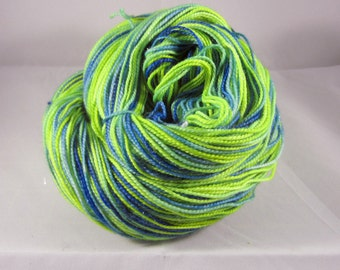 Neon Green and Royal Sock Yarn