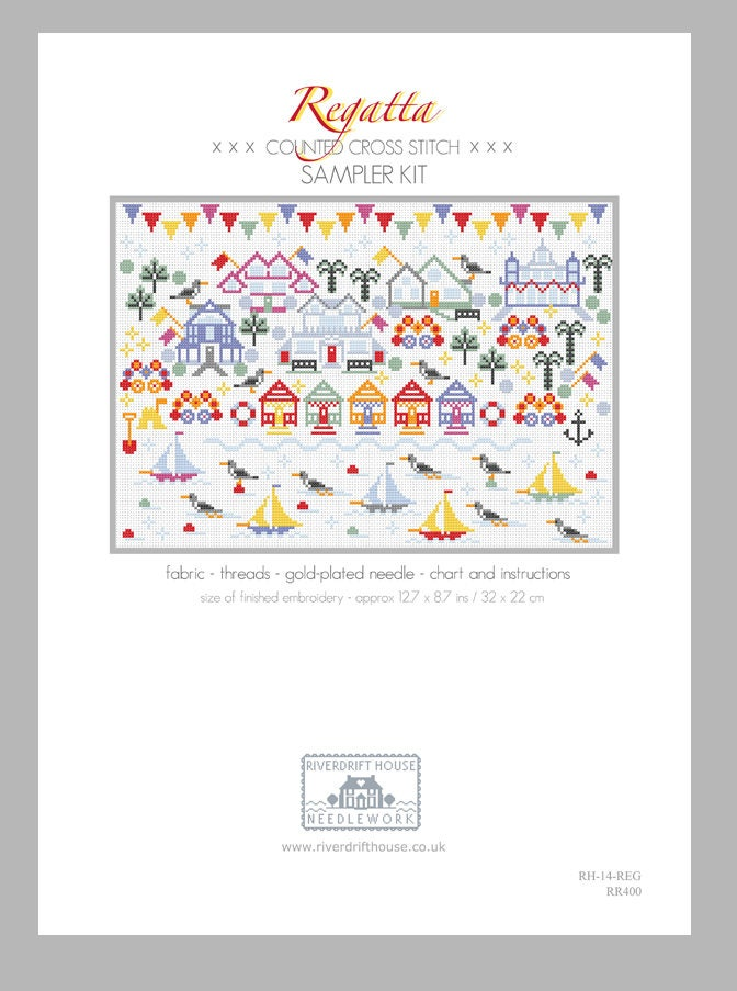 Cross Stitch Kit Regatta By Riverdrift House