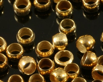 Brass Spacer Bead 500 pcs 2,5 mm (hole 1,4 mm 15 gauge) Gold tone , Findings fv10 bab1.4 1806