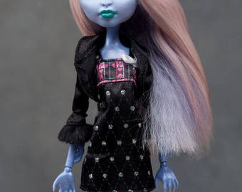 """Ready to ship! Gorgeous dual colour alpaca wig for Monster High doll or other doll with 4-5"""" head"""