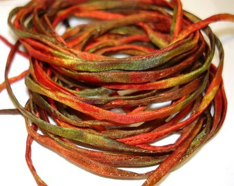 """5PC. RAVEN 2MM Hand Dyed Silk Jewelry Cord//5PC Hand Dyed Silk Cording 1/8"""" X 36""""//Hand Dyed Silk Jewelry Bracelet/Necklace Cording"""