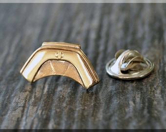Brass Nurse Hat Badge Pin, Nursing Lapel Pin, Medical Brooch, Gift Under 10 Dollars, Medical Field Tie Tac, Nursing Gift Lapel Pin