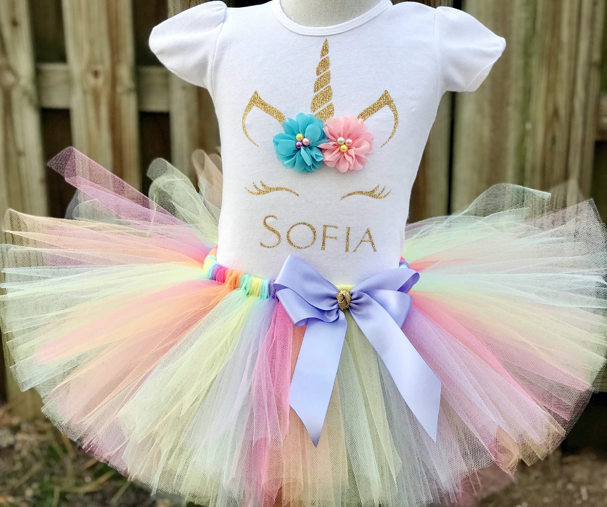 Birthday Party Outfit: Unicorn Birthday Outfit 1st Birthday Outfit 2nd Birthday