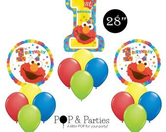 Elmo Birthday Party Balloon, Sesame Street Birthday Party, Elmo Party, Sesame Street Party Decorations, Elmo Party Decorations