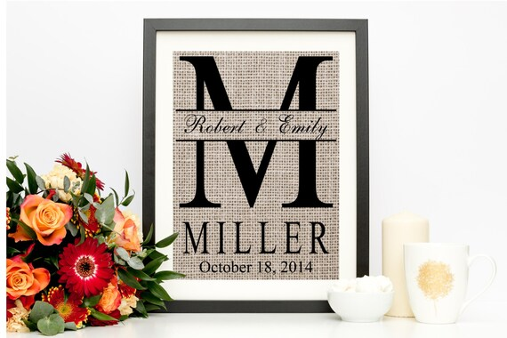 Personalized Wedding Gift For Couple Bridal Shower Gift