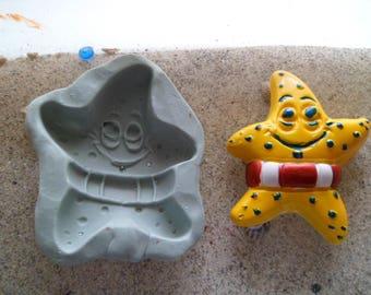 fun Starfish silicone mold and plaster fimo lifebuoy