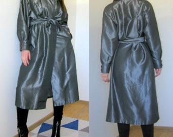 Silver Future Style trench coat Oversize Trench