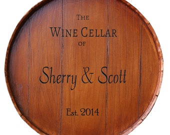 Wine Barrel Personalized Large Lazy Susan