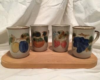 Vintage Stoneware Mugs - Made in Japan