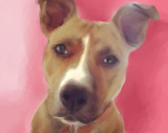 Custom Pet Portraits Digital