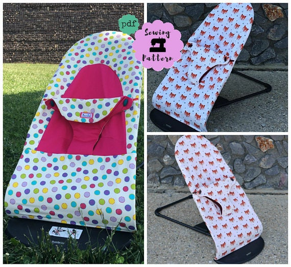 Baby Bjorn seat cover PACK of 2 PDF sewing Patterns for Soft Bouncer ...