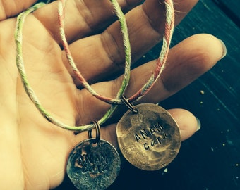 Anam Cara single dime pendant for best friend and soul mates