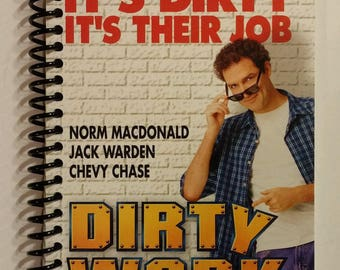 Dirty Work Spiral Notebook Hand Made from Original VHS Tape Movie Cover