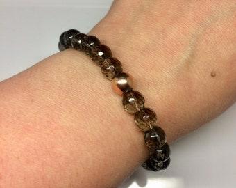 Smoky quartz chakra bracelet