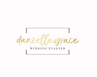 Gold Logo | Custom Logo | Elegant Logo Design | Feminine  Logo | Floral Logo | Boutique Logo | Photography Logo | Wedding Planner Logo