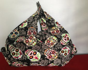 Sugar skull bento bag