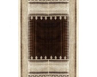 Handwoven Merino wool Rug NATURAL colour woven on a handloom