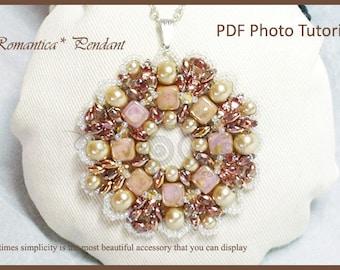 Photo Tutorial ENG- ITA ,DIY Pendant,*Romantica* pendant ,PDf Pattern 21