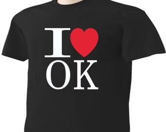 I Love Oklahoma T-Shirt Heart OK